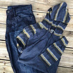 Lucky brand jeans 32L x 32W & Hawk long sleeve M